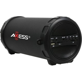 Axess SPBT1031-BK 2.1 Speaker System - 9 W RMS - Portable - Battery R