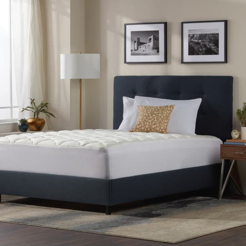 Kotter Home Extra Plush Rayon from Bamboo Top Mattress Pad - White