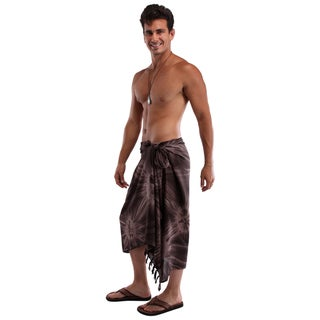 1 World Sarongs Men's Smoked Tie-dye Sarong (Indonesia)