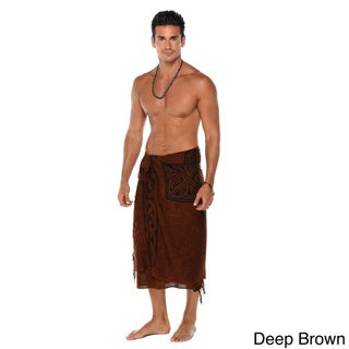 1 World Sarongs Men's Sarong with Celtic Cross