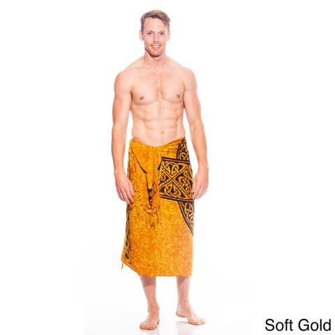 Handmade 1 World Sarongs Men's Sarong with Celtic Cross (Indonesia)