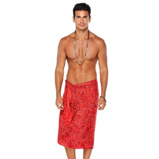 1 World Sarongs Men's Abstract Rayon Sarong (Indonesia)