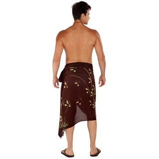 1 World Sarongs Men's Bamboo Sarong (Indonesia)