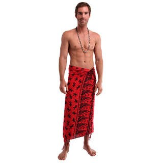Handmade 1 World Sarongs Men's Gecko Sarong (Indonesia)