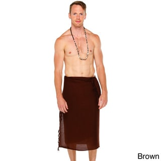 1 World Sarongs Men's Solid Color Sarong (Indonesia)