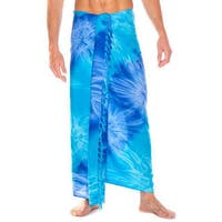 1 World Sarongs Men's Tie-dye Sarong (Indonesia)