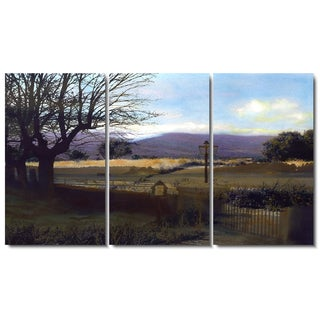 Zhee Singer 'Country Evening' 3-panel Set Fine Art Gallery Wrapped Canvas