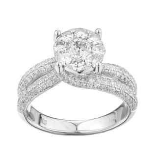 14k White Gold 1 3/5ct TDW Diamond Engagement Ring