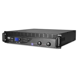 Pyle RBPTA3004U 3000W USB/ SD LCD Display Power Amplifier with Built-in Crossover (Refurbished)