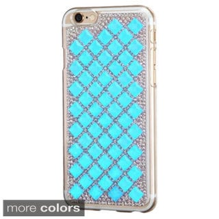INSTEN Diamond Bling Hard PC Plastic Snap-on Phone Case Cover For Apple iPhone 6 4.7-inch