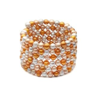 Multicolor Freshwater Pearl Bangle (6-7 mm)