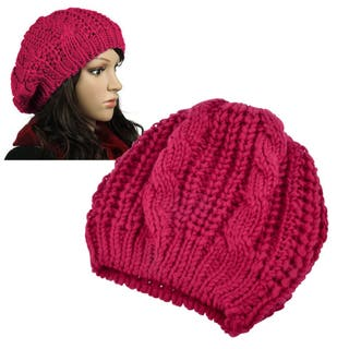 Zodaca Unisex Winter Knit Crochet Beanie