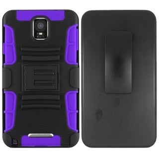 INSTEN Advanced Armor Dual Layer Hybrid Rubberized Hard PC/ Silicone Holster Phone Case Cover For Samsung Galaxy Note 4