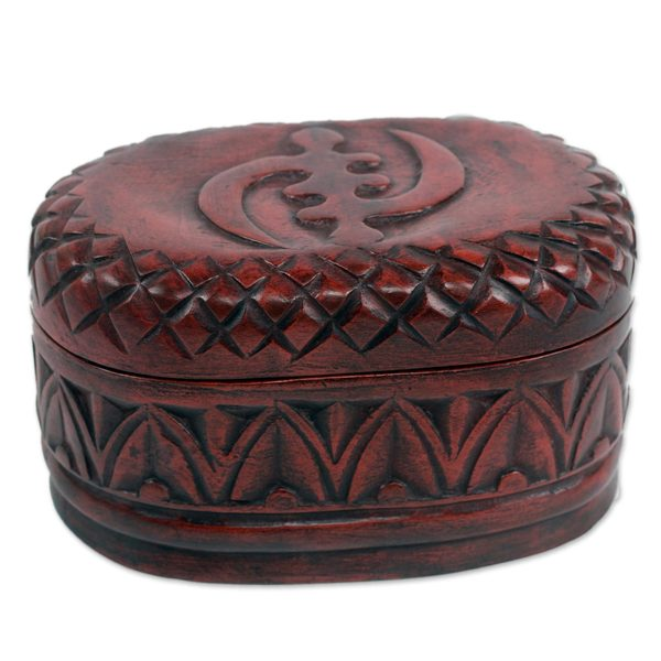 Handmade Sese Wood 'My Girl Friday' Jewelry Box (Ghana)