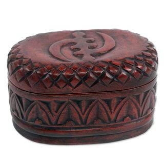 Handcrafted Sese Wood 'My Girl Friday' Jewelry Box (Ghana)