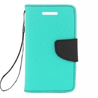 INSTEN Folio Flip Leather Wallet Phone Case Cover With Stand For Samsung Galaxy Light SGH-T399