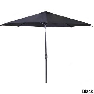 Jordan Manufacturing 9-foot Steel Market Umbrella (Option: Black)