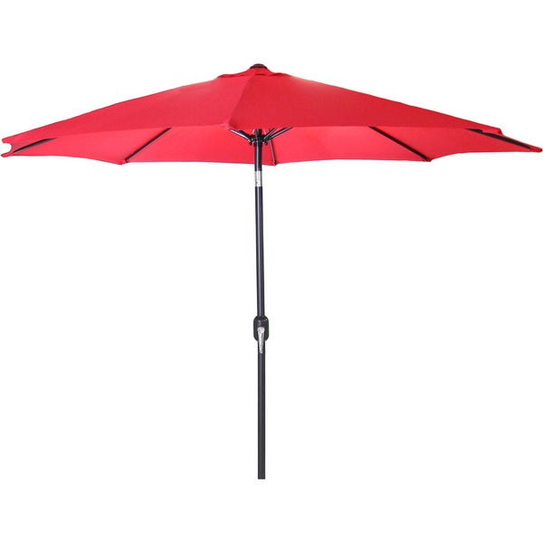 Jordan manufacturing 9 foot steel market umbrella free for Patio table umbrella 6 foot