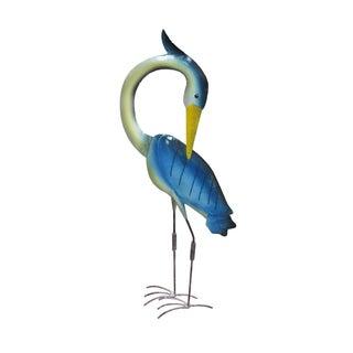 Handmade Blue Iron Egret Decor (Indonesia)