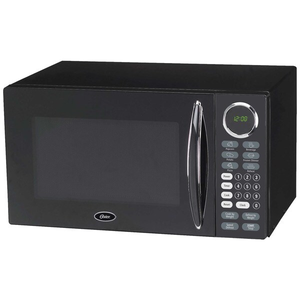 Large Microwave Oven For Sale: Shop Oster Black 0.9-cubic Foot Digital Microwave Oven