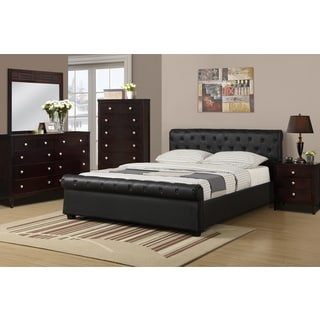 Galanta 4-piece Bedroom Set with Matching Nightstand, Mirror and Dresser