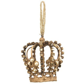 Antique 4-inch Crown Ornament (Pack of 6)