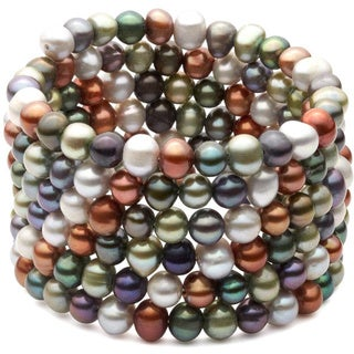 Freshwater Pearls in Various Colors Bangle (6-7 mm)