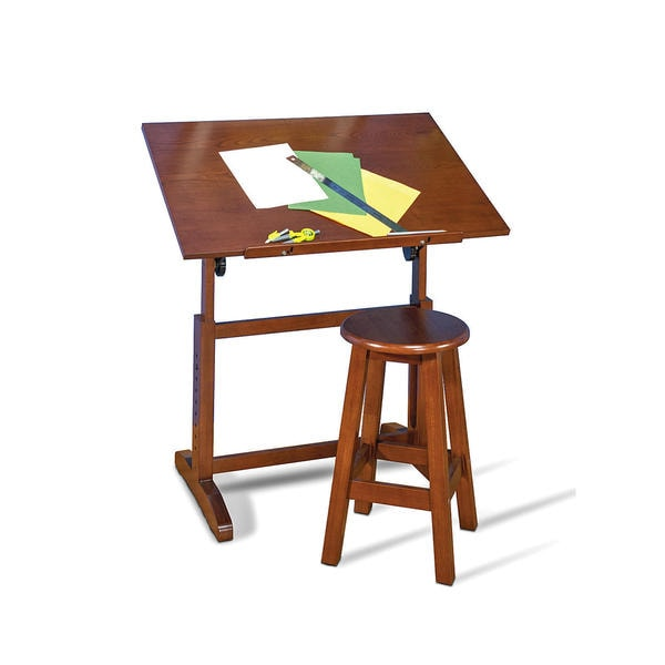 Studio Designs Creative Wood 36-inch Wide Drafting Table and Stool ...