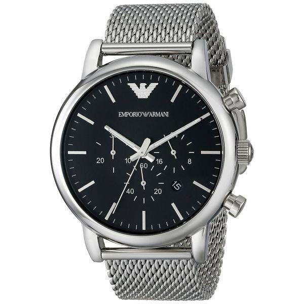 Emporio Armani Men's Classic Black Chronograph Stainless Steel Watch
