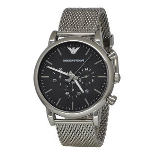 Armani Men's AR1808 Classic Black Chronograph Stainless Steel Watch