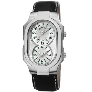 Philip Stein Men's 2-NFMOP-CSTB 'Signature' Mother Of Pearl Dial Dual Time Quartz Watch