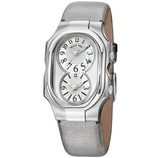 Philip Stein Women's 2-NFMOP-CMS 'Signature' Mother Of Pearl Dial Dual Time Metallic Strap Watch