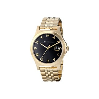 Marc Jacobs Women's MBM3315 The Slim Black Goldtone Stainless Steel Watch