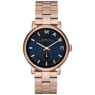 marc jacobs watches overstock com the best prices on designer marc jacobs women s mbm3330 baker blue rosetone stainless steel watch