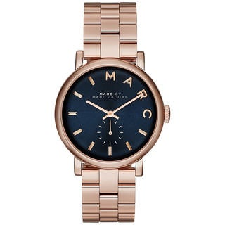 Marc Jacobs Women's MBM3330 Baker Blue Rosetone Stainless Steel Watch
