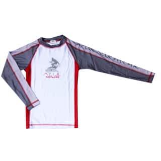 Azul Boys' Swimwear Long Sleeve Red Combination Rashguard|https://ak1.ostkcdn.com/images/products/9672564/P16852919.jpg?impolicy=medium