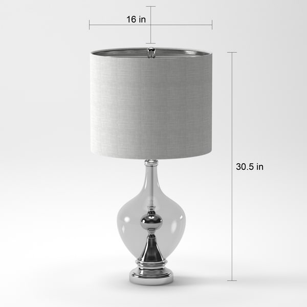JT Lighting Brushed Nickel with Clear Glass Table L& - Free Shipping Today - Overstock.com - 16812081 & JT Lighting Brushed Nickel with Clear Glass Table Lamp - Free ... azcodes.com