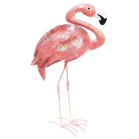 Handmade Flamingo Iron Decor (Indonesia) (Refurbished)