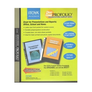 Itoya Clear Cover Profolio Presentation Books