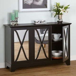 simple living reflections black buffet console