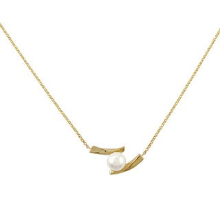 14k Yellow Gold Freshwater Pearl Rolo Necklace 9-95 mm