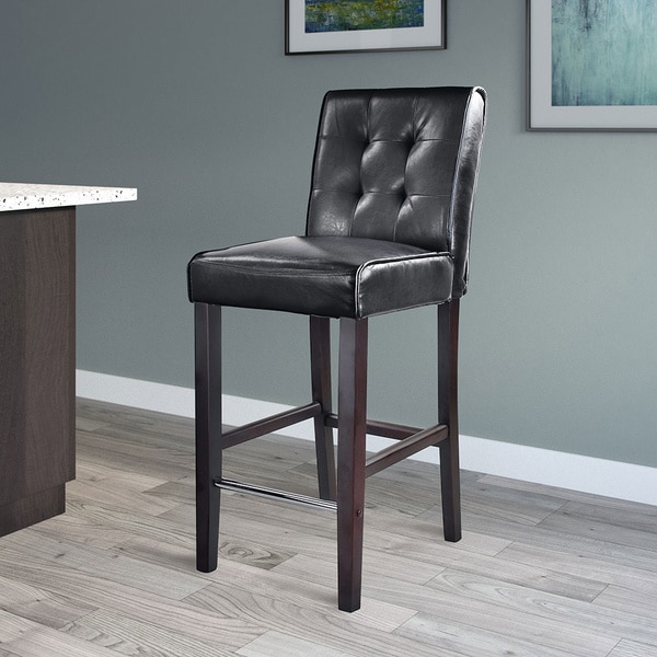 Counter Height Leather Bar Stools : CorLiving Antonio Bonded Leather Bar Height Bar Stool - Free Shipping ...