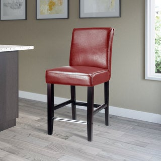 CorLiving Antonio Bonded Leather Counter Height Bar Stool
