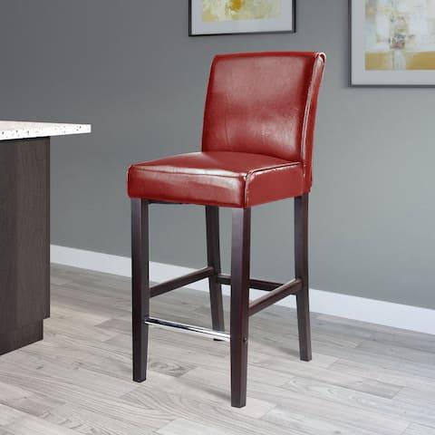 Copper Grove Krk Bar-height Bonded Leather Barstool