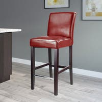 CorLiving Antonio Bar Height Bonded Leather Barstool
