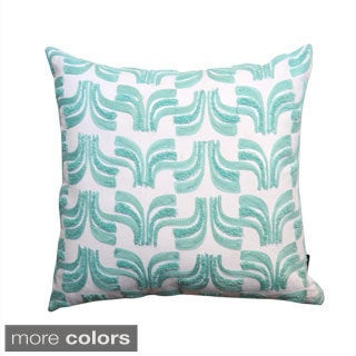 Geometric Embroidered Decorative Down Filled Throw Pillow