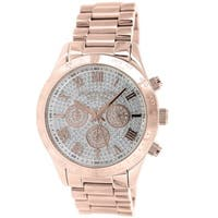 Michael Kors Women's  'Layton' Rose Gold Tone Ion Plated Stainless Steel Watch