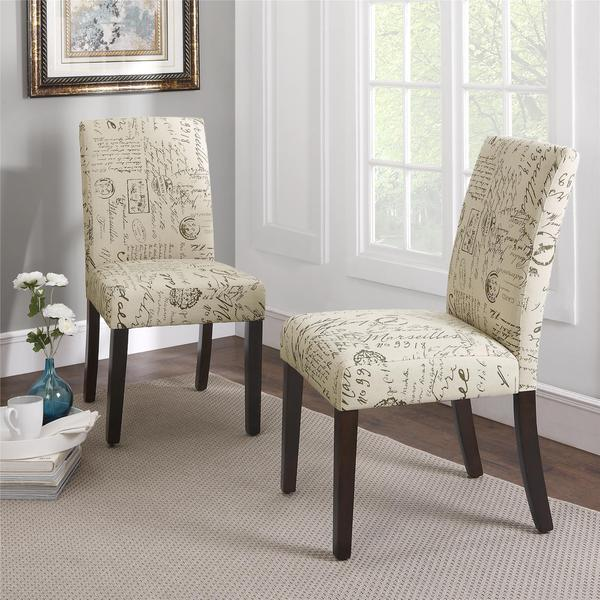 dorel living blakely script parsons chairs (set of 2) - free