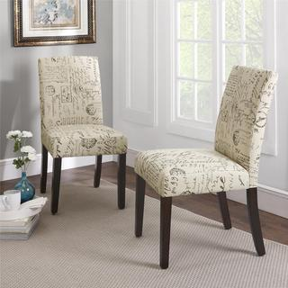 Dorel Living Blakely Script Parsons Chairs (Set of 2)