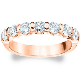 Amore Rose Gold 1 1/2ct TDW 7-stone Diamond Wedding Band (G-H, SI1-SI2)